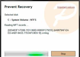 Prevent Recovery screenshot