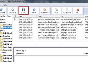 CommuniGate to Windows Live Mail Converter screenshot