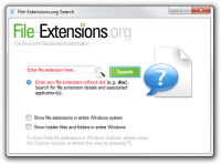File-Extensions.org Search screenshot