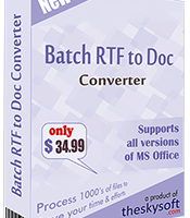 Batch RTF to Doc Converter screenshot