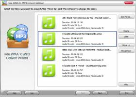 Free WMA to MP3 Convert Wizard screenshot