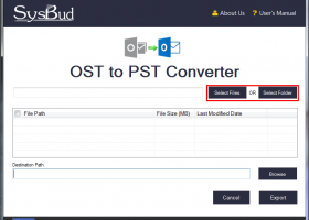SysBud OST to PST Converter screenshot