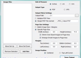JPEG to PDF screenshot
