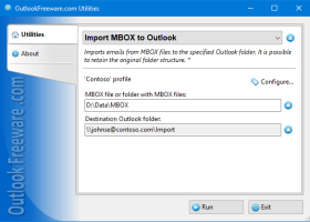 Import MBOX to Outlook screenshot