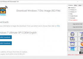 Windows and Office ISO Downloader screenshot