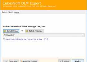 CubexSoft OLM Export screenshot