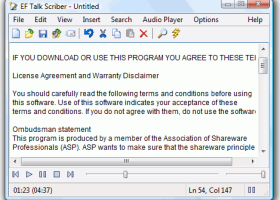 Portable EF Talk Scriber screenshot