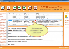 OST Recovery Tool screenshot
