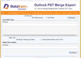 DataVare Outlook PST Merge Exprert screenshot