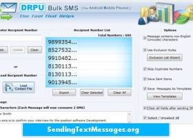 Android Bulk SMS Software screenshot