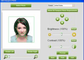 Free passport photo software screenshot