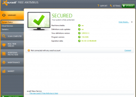 avast! Home Edition screenshot