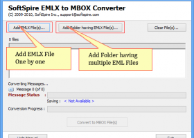 EMLX to MBOX Converter screenshot