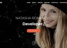 Natasha - One Page Portfolio HTML Template screenshot