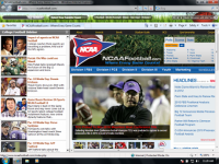 College Football IE Browser Theme screenshot