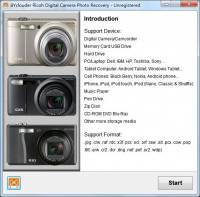 BYclouder Ricoh Digital Camera Photo Recovery screenshot