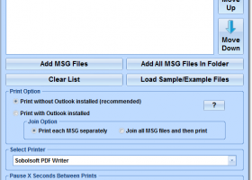 Print Multiple MSG Files Software screenshot