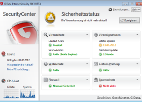 G DATA InternetSecurity 2014 screenshot