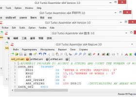 GUI Turbo Assembler screenshot