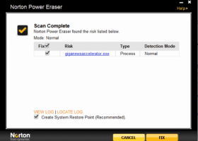 Norton Power Eraser screenshot