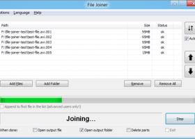 File Joiner - 64bit Portable screenshot
