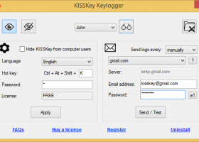 KISSKey Keylogger screenshot