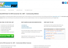 SelectPdf Html To Pdf Converter for .NET screenshot