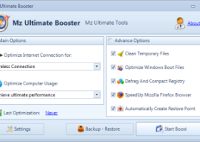 Mz Ultimate Booster (AutoMz Ultimate Tweaker) screenshot