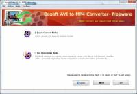Boxoft AVI to MP4 Converter (freeware) screenshot
