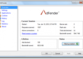 AdFender screenshot