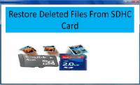 Restore Deleted Files From SDHC Card screenshot