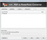 FirePDF PDF to PowerPoint Converter screenshot
