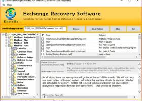 Exchange EDB Recovery Software screenshot