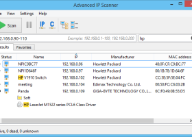 Advanced IP Scanner screenshot