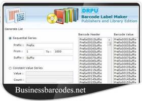 Publishers Barcode Generator Software screenshot