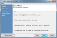 vCard Import-Export for Outlook screenshot