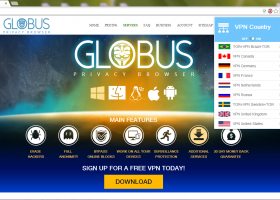 Globus Privacy Browser screenshot