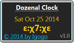 Dozenal Clock screenshot