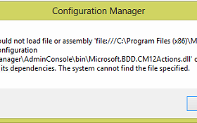 CM2012 Console MDT Integration Error Fix screenshot