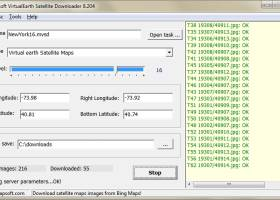 Microsoft VirtualEarth Satellite Downloader screenshot