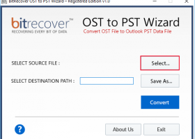 Import Mail from OST to PST screenshot