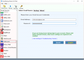 Yahoo Small Business Mail Backup screenshot