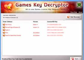 Games Key Decryptor screenshot