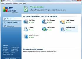 AVG Free Edition 2012 screenshot