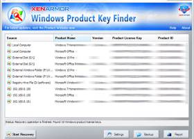 XenArmor Windows Product Key Finder screenshot