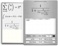LaTex Equation Editor screenshot