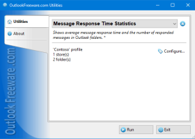 Message Response Time Statistics screenshot