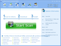 Toshiba Drivers Download Utility screenshot