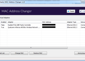 NoVirusThanks MAC Address Changer screenshot