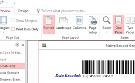 Code 128  Access Barcode Generator screenshot